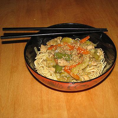 Saut de mines nouilles chinoises recettes a cuisiner - Comment cuisiner des nouilles chinoises ...