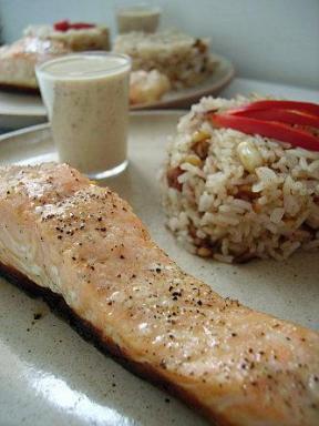 paves de saumon sauce marie