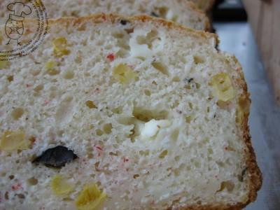 Cake Lardon Poivron Gruyere