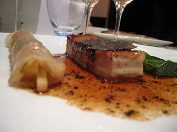 Tendron de veau aux p tes fra ches truffes et foie gras - Cuisiner tendron de veau ...